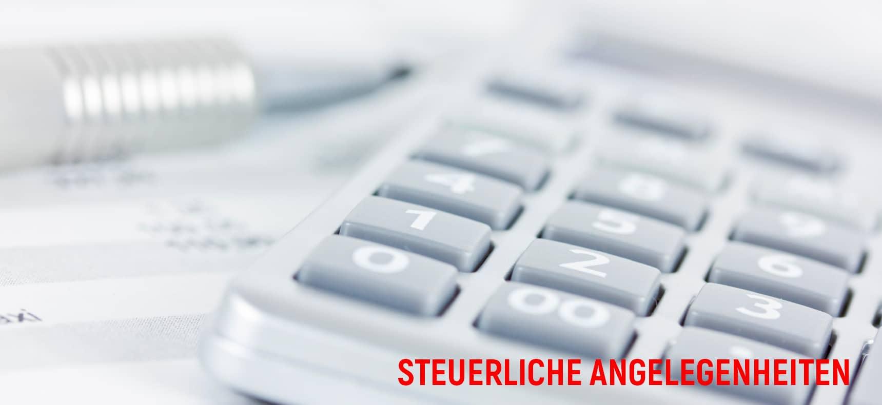 STEUERLICHE ANGELEGENHEITEN APRZ